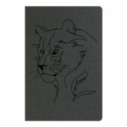 Блокнот А5 Outline drawing of a lion