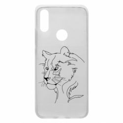 Чехол для Xiaomi Redmi 7 Outline drawing of a lion