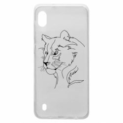 Чехол для Samsung A10 Outline drawing of a lion