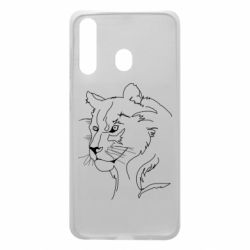 Чехол для Samsung A60 Outline drawing of a lion