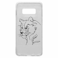 Чехол для Samsung S10e Outline drawing of a lion