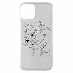 Чехол для iPhone 11 Outline drawing of a lion
