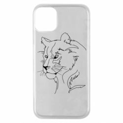 Чехол для iPhone 11 Pro Outline drawing of a lion
