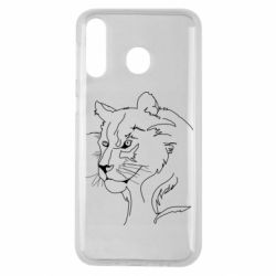 Чехол для Samsung M30 Outline drawing of a lion