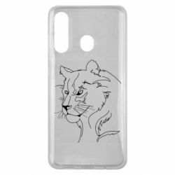 Чехол для Samsung M40 Outline drawing of a lion