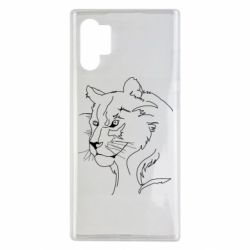 Чехол для Samsung Note 10 Plus Outline drawing of a lion