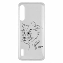 Чохол для Xiaomi Mi A3 Outline drawing of a lion