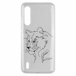 Чехол для Xiaomi Mi9 Lite Outline drawing of a lion
