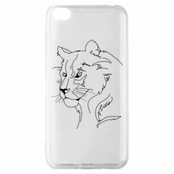 Чехол для Xiaomi Redmi Go Outline drawing of a lion