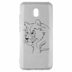 Чехол для Xiaomi Redmi 8A Outline drawing of a lion