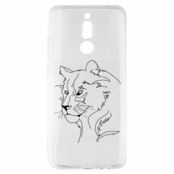 Чехол для Xiaomi Redmi 8 Outline drawing of a lion