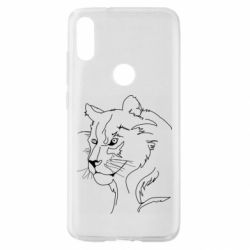 Чехол для Xiaomi Mi Play Outline drawing of a lion