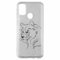 Чехол для Samsung M30s Outline drawing of a lion