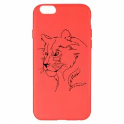 Чехол для iPhone 6 Plus/6S Plus Outline drawing of a lion