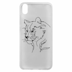 Чехол для Xiaomi Redmi 7A Outline drawing of a lion
