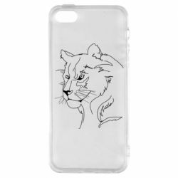 Чехол для iPhone5/5S/SE Outline drawing of a lion