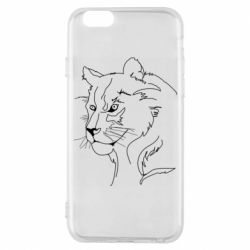 Чехол для iPhone 6/6S Outline drawing of a lion