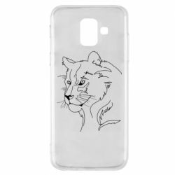 Чехол для Samsung A6 2018 Outline drawing of a lion