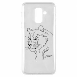 Чехол для Samsung A6+ 2018 Outline drawing of a lion