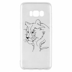 Чехол для Samsung S8 Outline drawing of a lion
