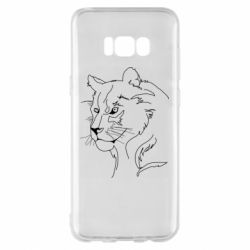 Чехол для Samsung S8+ Outline drawing of a lion
