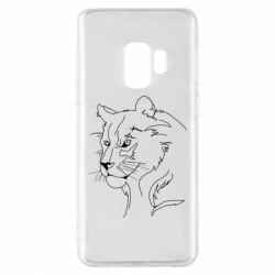 Чехол для Samsung S9 Outline drawing of a lion