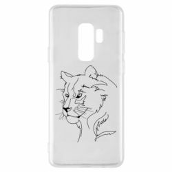 Чехол для Samsung S9+ Outline drawing of a lion