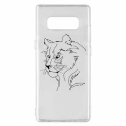 Чехол для Samsung Note 8 Outline drawing of a lion