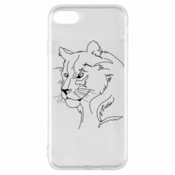 Чехол для iPhone 8 Outline drawing of a lion