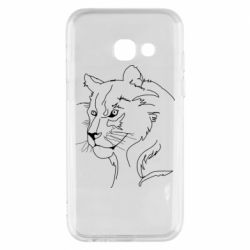 Чехол для Samsung A3 2017 Outline drawing of a lion
