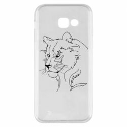 Чехол для Samsung A5 2017 Outline drawing of a lion