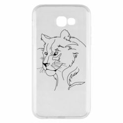 Чехол для Samsung A7 2017 Outline drawing of a lion