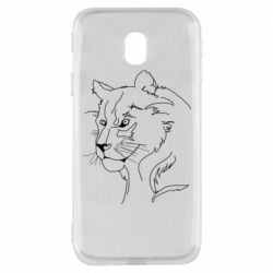 Чехол для Samsung J3 2017 Outline drawing of a lion