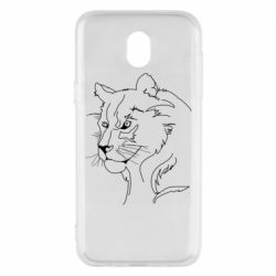 Чехол для Samsung J5 2017 Outline drawing of a lion