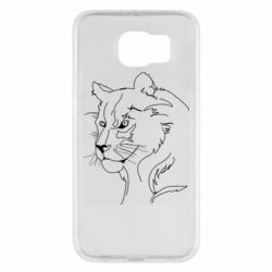 Чехол для Samsung S6 Outline drawing of a lion