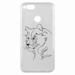 Чехол для Xiaomi Mi A1 Outline drawing of a lion