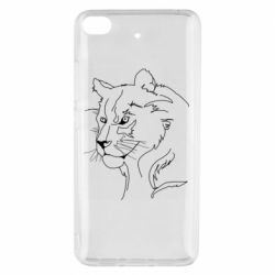 Чехол для Xiaomi Mi 5s Outline drawing of a lion