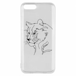 Чехол для Xiaomi Mi6 Outline drawing of a lion