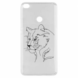 Чехол для Xiaomi Mi Max 2 Outline drawing of a lion