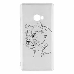Чехол для Xiaomi Mi Note 2 Outline drawing of a lion