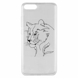 Чехол для Xiaomi Mi Note 3 Outline drawing of a lion
