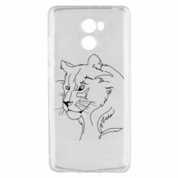Чехол для Xiaomi Redmi 4 Outline drawing of a lion