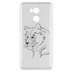 Чехол для Xiaomi Redmi 4 Pro/Prime Outline drawing of a lion