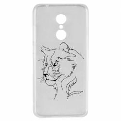 Чехол для Xiaomi Redmi 5 Outline drawing of a lion
