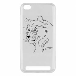 Чехол для Xiaomi Redmi 5A Outline drawing of a lion