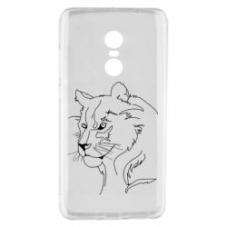 Чехол для Xiaomi Redmi Note 4 Outline drawing of a lion