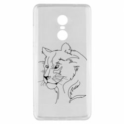 Чехол для Xiaomi Redmi Note 4x Outline drawing of a lion
