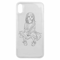 Чехол для iPhone Xs Max Outline drawing of a little girl
