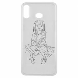 Чехол для Samsung A6s Outline drawing of a little girl