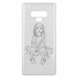 Чехол для Samsung Note 9 Outline drawing of a little girl